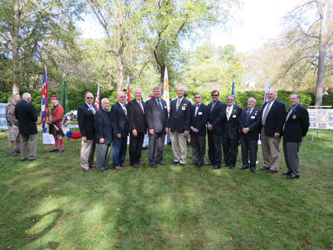 Photo of chapter memebers during the 2015 SAR Veterans Day ceremonies